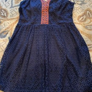 City Triangles Dresses - Navy and Orange Dress
